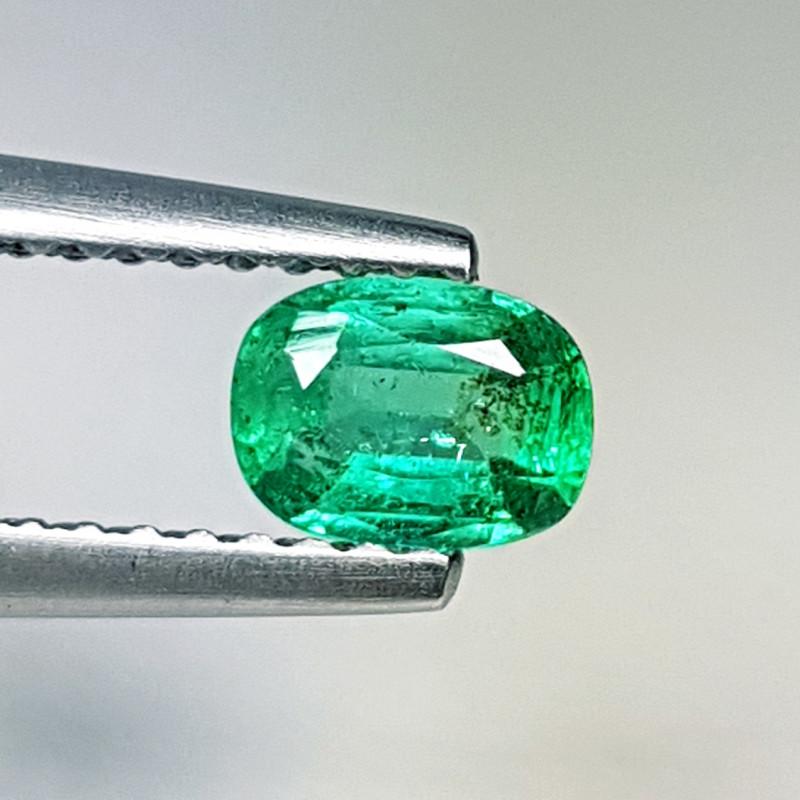 "0.39 ct ""Top Quality Gem"" Cushion Cut Natural Emerald"