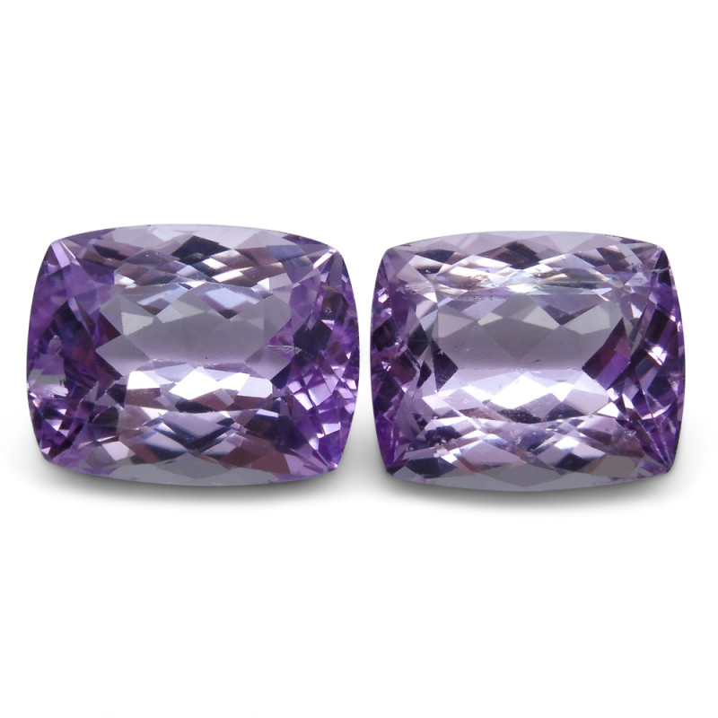 23.56 ct Pair Cushion Kunzite