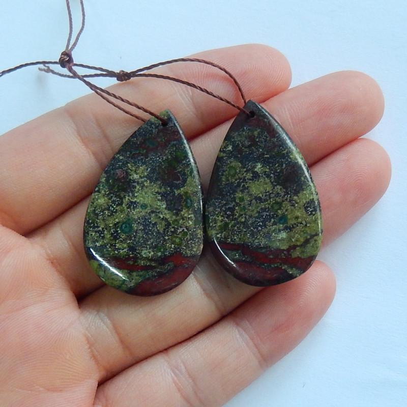 Dragon blood gemstone earrings ,stone earrings ,healing stone A851