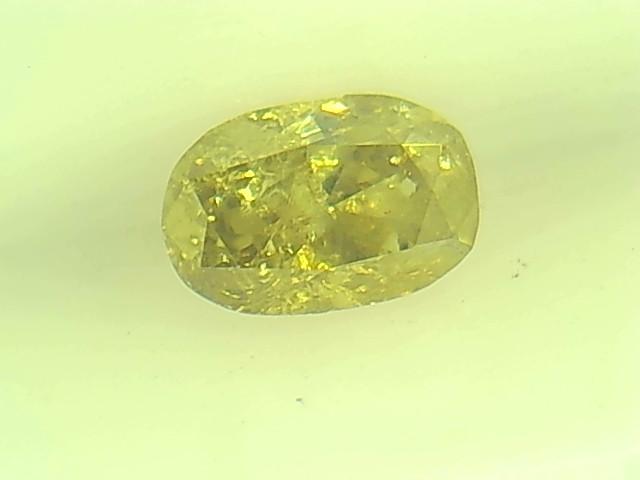 0.22ct Fancy Intense Yellow Green  Diamond , 100% Natural Untreated