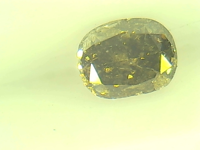 0.30ct  Fancy Dark Green Brown Diamond , 100% Natural Untreated