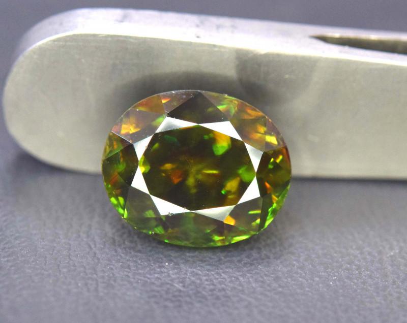 5 90 cts Natural Full Fire Chrome Sphene Titanite Gemstone