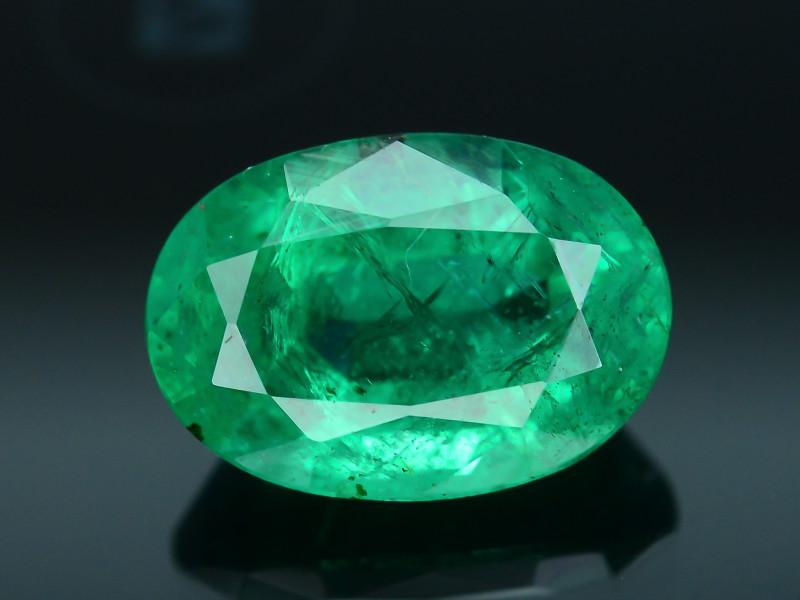 AIG Certified Top Color 1.85 ct Zambian Emerald SKU-28
