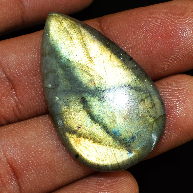 Genuine 33.00 Cts Golden Flash Labradorite Cabochon