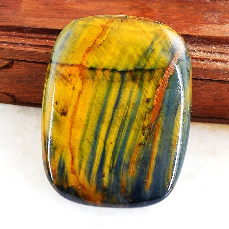 Genuine 62.00 Cts Untreated Iron Tiger Eye Cabochon