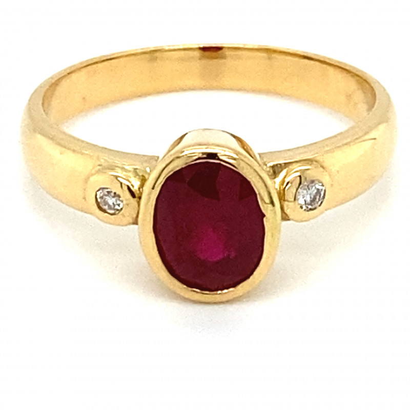 GIA Certified and Sourced Verified Ruby 1.01ct  Diamonds 18K Solid Gol
