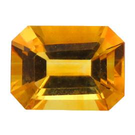 1.27 ct Emerald Cut Citrine  (Golden Yellow)