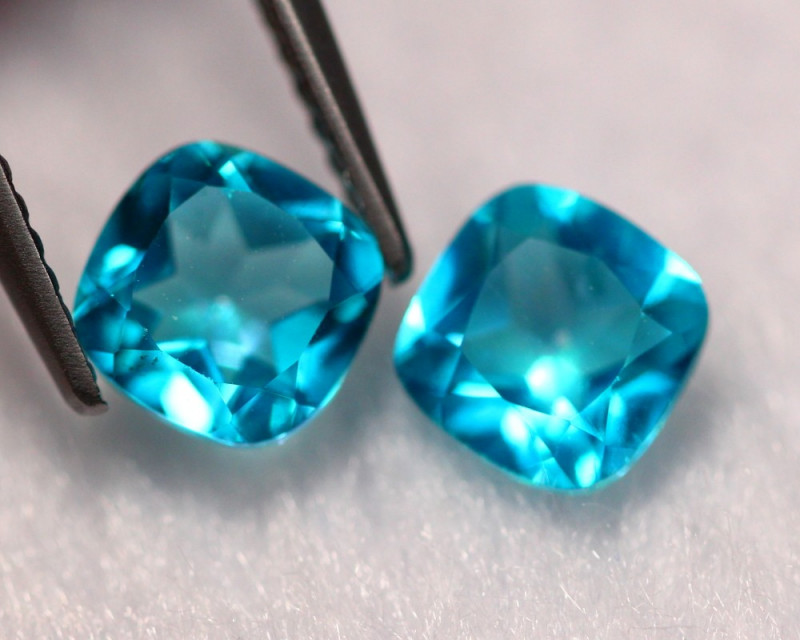 2.33Ct Natural VS Clarity Paraiba Color Topaz Pairs ~ A1108