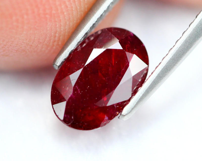 1.42Ct Natural Burmese Vivid Pigeon Blood Red Ruby Heated Only ~ B1102