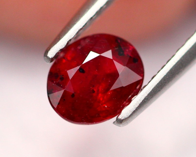 0.83Ct Natural Burmese Vivid Pigeon Blood Red Ruby Heated Only ~ B1105
