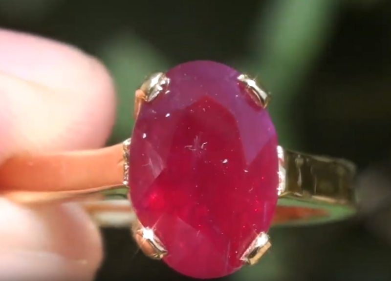 Longido Ruby 2.57ct, 18ct Solid Gold Ring, GIA Certified and Sourced Verifi