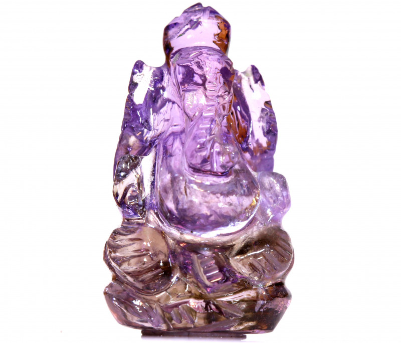 33.50CTS AMETRINE CARVING-INDIAN LORD GANESH  LT-478