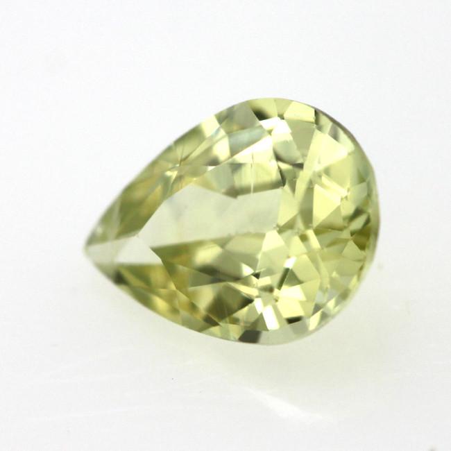 0.62cts Natural Australian Yellow Sapphire Pear Shape