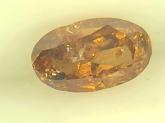 0.52ct Fancy Deep brownish Orange  Diamond , 100% Natural Untreated