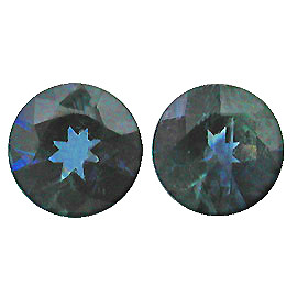 0.91 cttw Pair of Round Sapphires  (Medium Royal Blue)