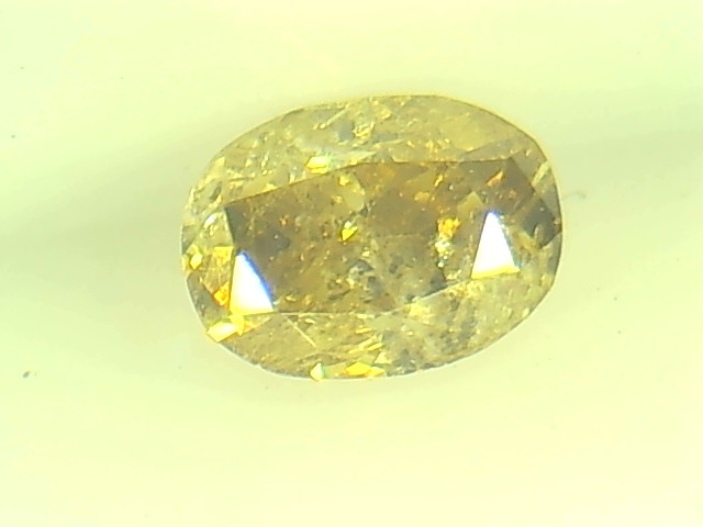 0.34ct Fancy Deep Brown Yellow  Diamond , 100% Natural Untreated