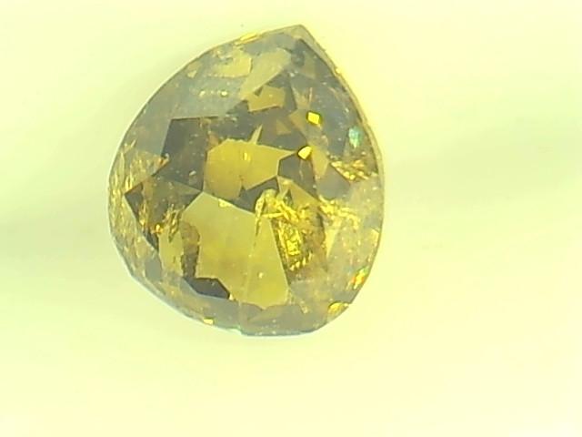 0.38ct Fancy Dark Green Yellow Diamond , 100% Natural Untreated