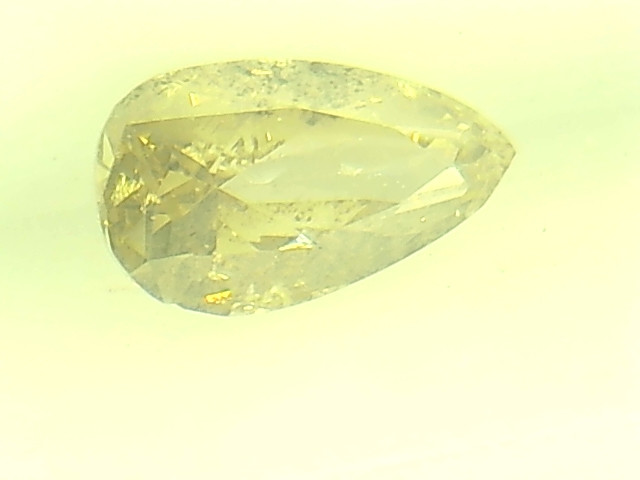 0.33ct Fancy Light Green Brown  Diamond , 100% Natural Untreated