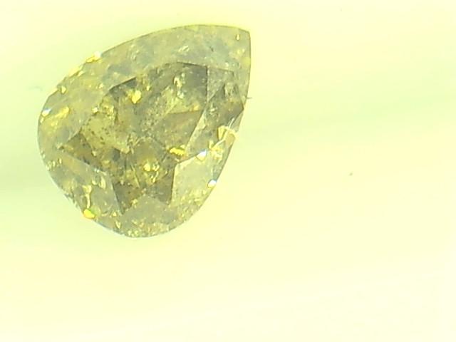 0.335ct Fancy Intense Yellow Green  Diamond , 100% Natural Untreated