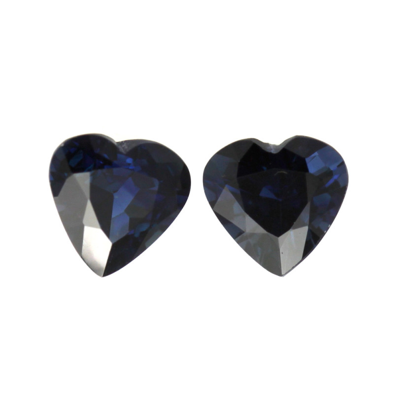 1.91cts Natural Australian Blue Sapphire Matching Heart Shape