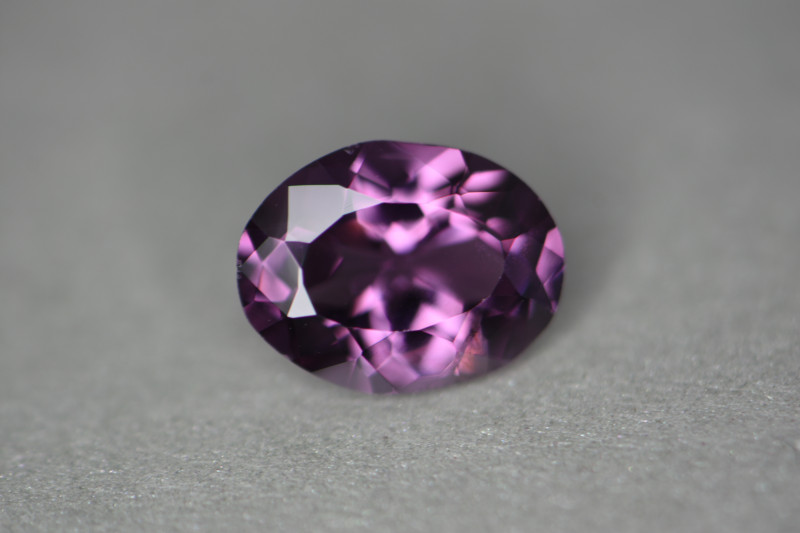 Nice bright purple colored natural spinel with nice flash and proper cutting angles.
