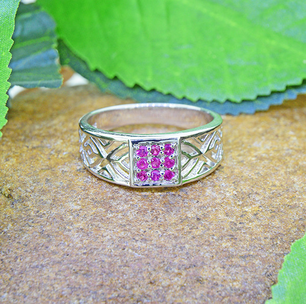 Natural Ruby 925 Sterling Silver Ring SSR0467