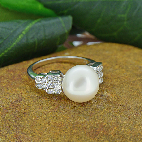 Cultured Pearl  925 Sterling Silver Ring SSR0173