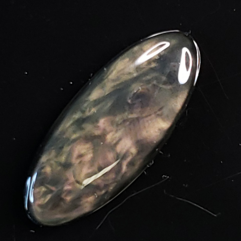 5.75ct Rare Obsidian Cab