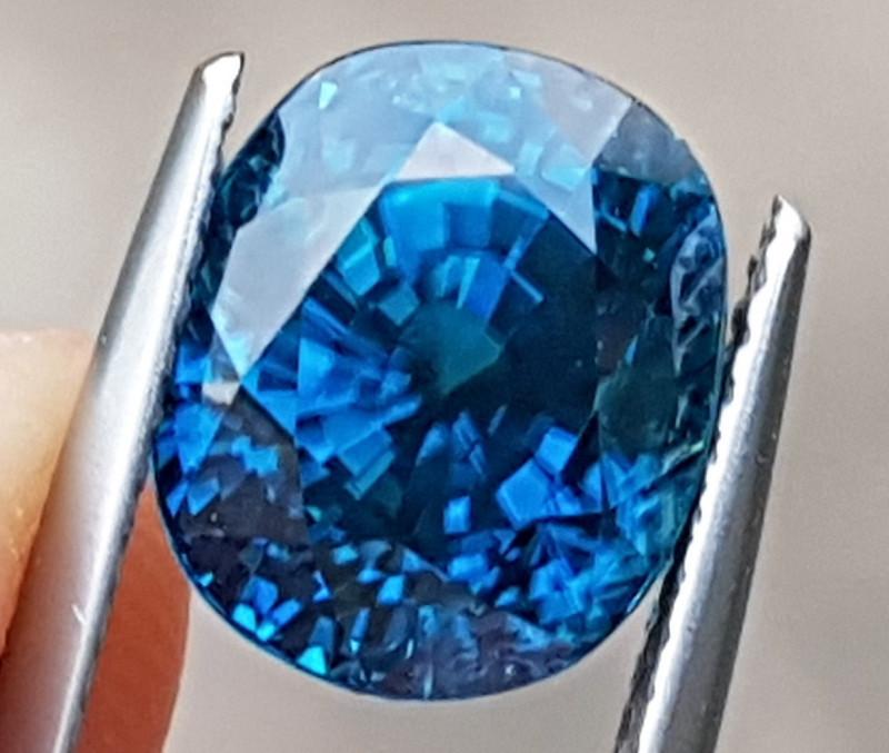 7.92cts, Blue Zircon,  Top Color