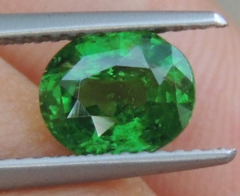 1.63cts, Tsavorite,  Untreated,  Pure Green,