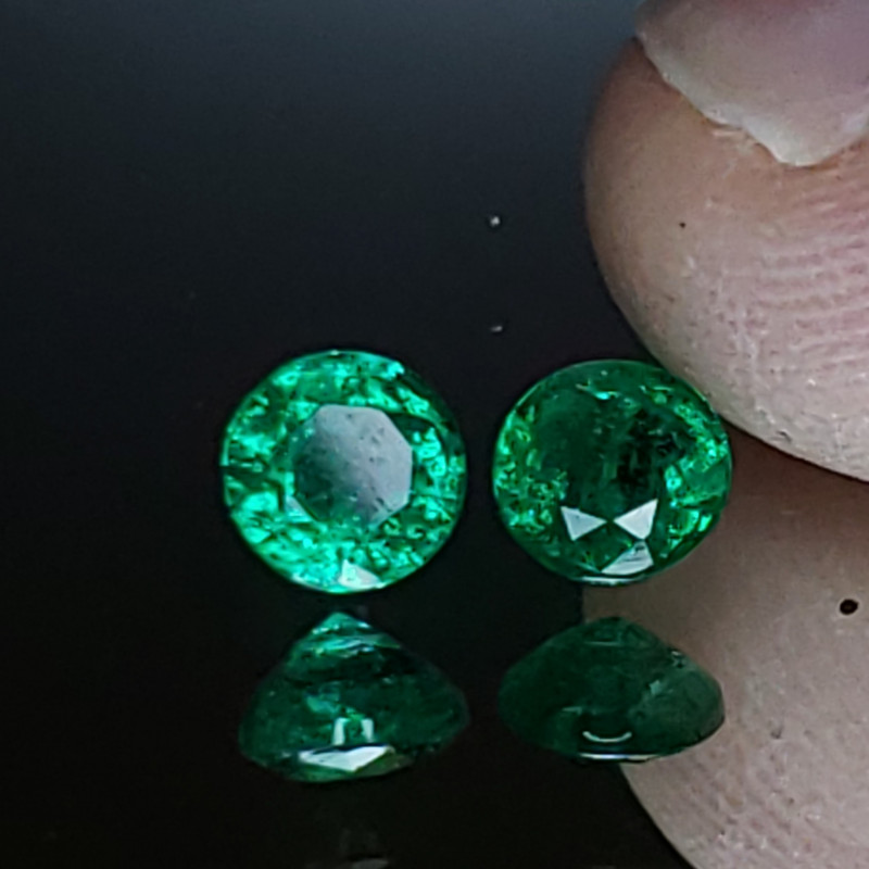 .95TCW Emerald Matching Pair