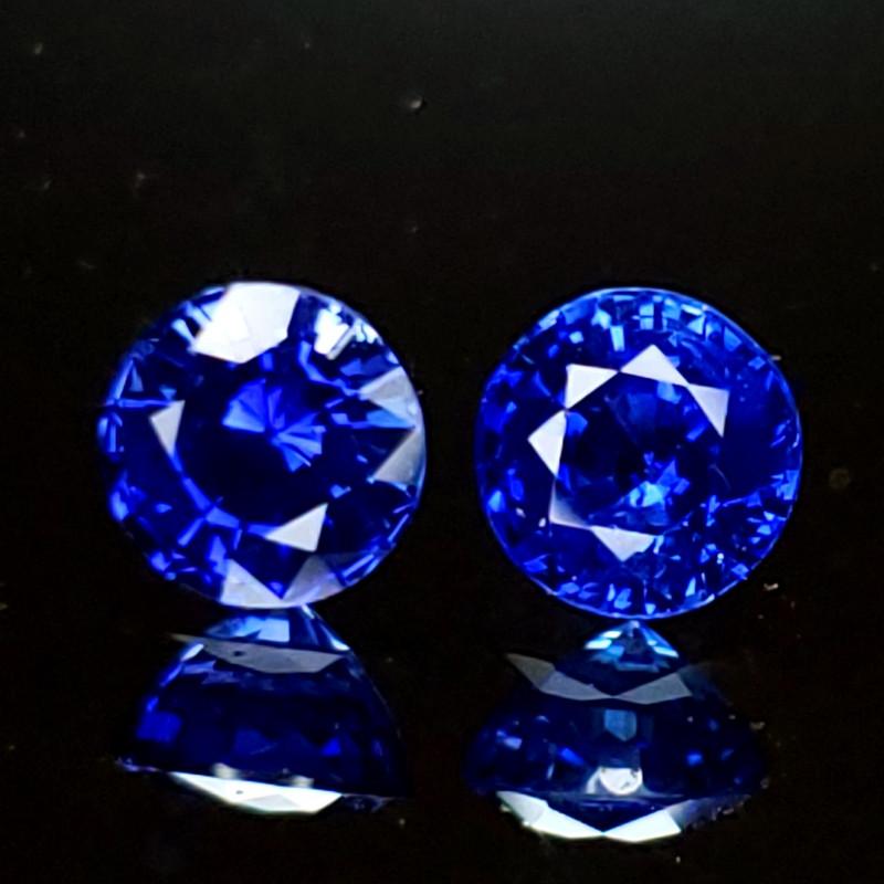 1.66ctcw Sapphire Pair