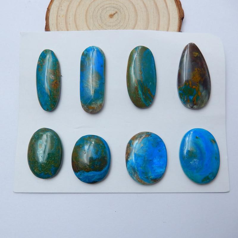 blue-green Top quality 6.36 ct Peruvian  blue opal designer cabochon Transparent   high dome drop AA