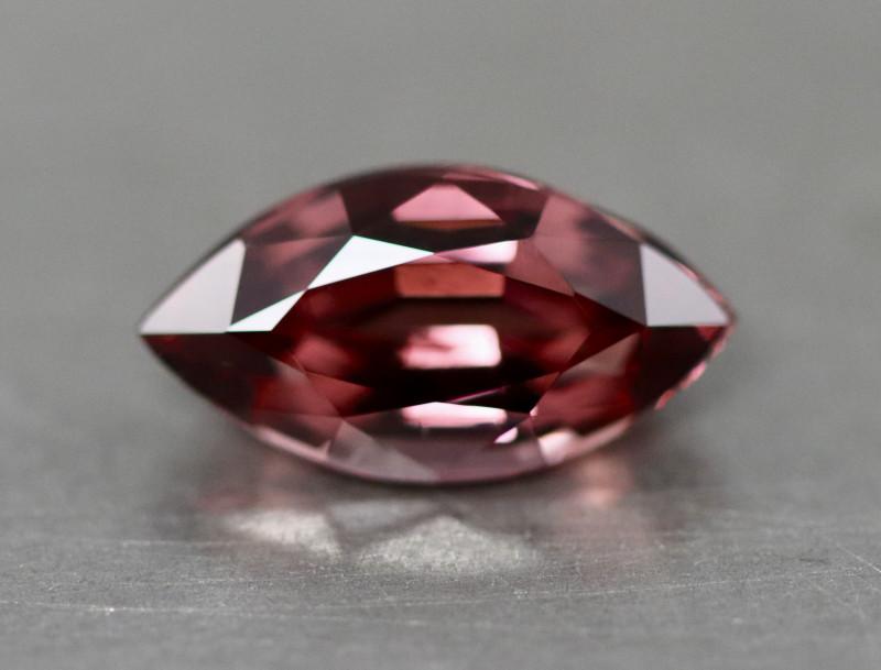 Marquise pinkish red Mahenge garnet.