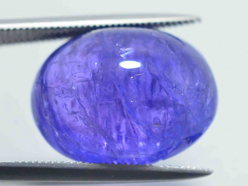 AAA Color 14.60 ct Tanzanite Cab eye catching Color~AS
