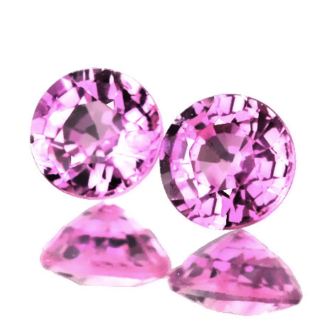 ⭐3.50mm PINK SAPPHIRE PAIR - DIVINELY BEAUTIFUL JEWELLERY GRADE GEMS