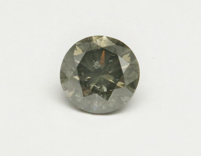 Natural 2.01ct Fancy Dark Greenish Grey Diamond GIA certified