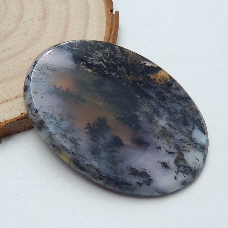 Very Rare! Natural Dendrite Sunset Gemstone Dendrite loose Stone For Jewelry 48 Cts.D-5352 Semi Precious Dendrite Sunset Cabochon