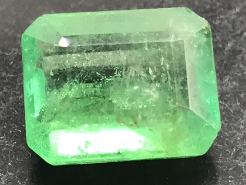 1.225ct natural untreated Emerald.  Emerald cut.