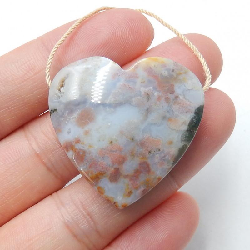 Ocean Jasper Pendant ,Natural Ocean Jasper ,Heart Pendant ,Wholesale B401