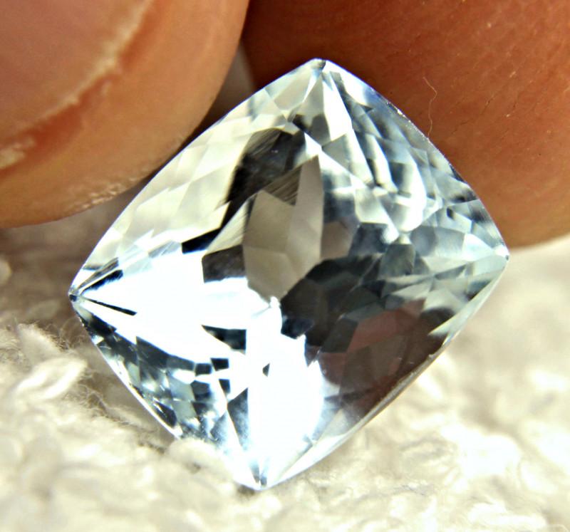 6.35 Carat Silver Blue Himalayan VS Aquamarine - Gorgeous