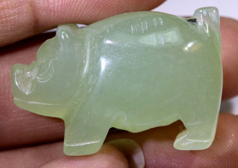59.45cts -JADE PIG CARVING  LT-918