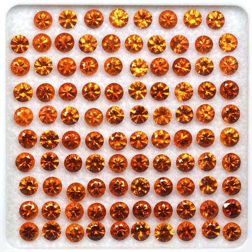 17.30 Cts Natural Spessartite Garnet Fanta Orange 98 Pcs Namibia 3.3-3.5 mm