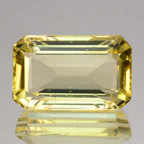 5.97 Cts GLITTERING NATURAL ULTRA RARE LUSTER YELLOW SCAPOLITE OCTAGON GEM