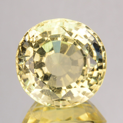 3.50 Cts GLITTERING NATURAL ULTRA RARE LUSTER YELLOW SCAPOLITE ROUND GEM