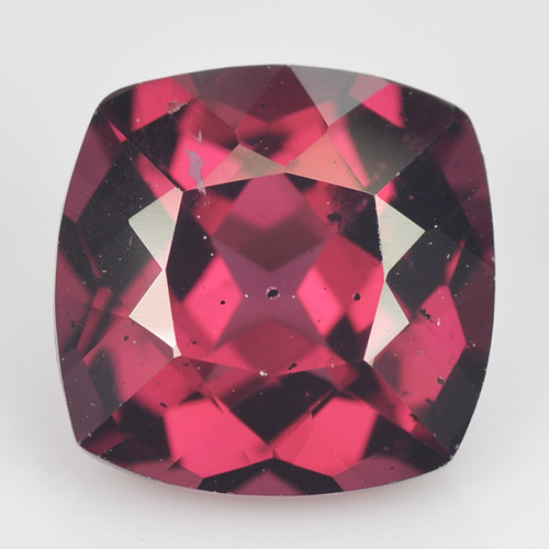 3.80 Cts Natural Purplish Pink Rhodolite Garnet Cushion Cut Mozambique