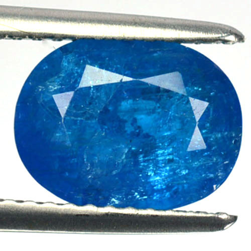 2.40 Cts Natural Neon Blue Apatite Oval Cut Madagascar