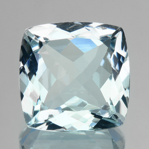 ~DAZZLING~ 2.28 Cts Natural Blue Aquamarine Cushion Cut Brazil