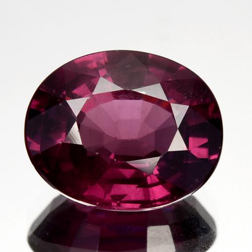 3.18 Cts Natural Purple Pink Garnet Oval Cut Mozambique