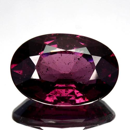 4.25 Cts Natural Purple Pink Garnet Oval Cut Mozambique